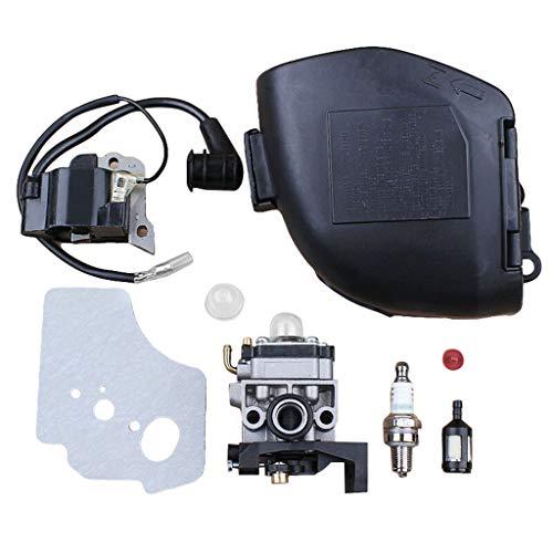 changzhou Vergaser Einstellwerkzeug, Vergaser Vergaser Luftfilter Abdeckung Kit für Honda GX25 GX25N GX25NT HHT25S Bürste
