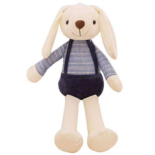 SODIAL 40Cm Simpatico Coniglietto Peluche Coniglio Giocattolo Morbido Panno Farcito Coniglio Regalo di Pasqua Decor Baby Placare Giocattoli per Bambini Bambini Nuovo Anno Regalo (Blu)