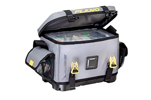 Plano Z-Series 3600 Tackle Bag   Premium Fishing and Tackle Storage with Waterproof Molded and Non-Slip Base   Includes Two Stowaway Tackle Boxes, Gray