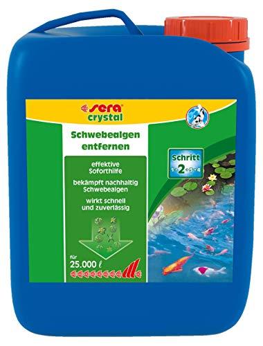 sera pond crystal gegen Schwebealgen bei grünem Wasser, 2,5 Liter