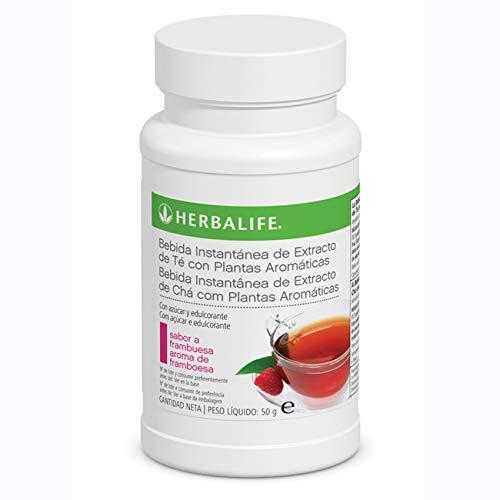 Bebida Instantánea a base de extracto de Té Herbalife con té negro, verde, flor de malva, flor de hibisco y semilla de cardamomo.… (Té Frambuesa 50g)