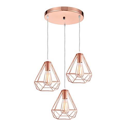 lampadario a sospensione a 3 luci iDEGU 3 Luci Lampada a Sospensione Vintage