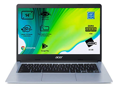 Acer Chromebook 314 - Portátil 14' HD (Intel Celeron N4020, 4GB...