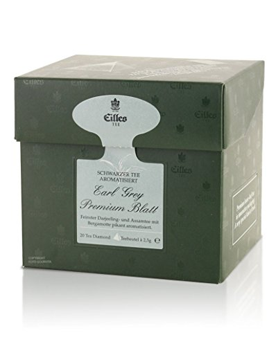 Tea Diamonds Earl Grey Premium Blatt 20 Pyramidenbeutel