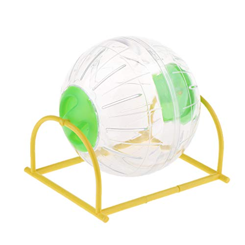 F Fityle Hamsterball Mäuseball Joggingball Laufkugel Laufball Hamster Ball mit Ständer, Durchmesser 15 cm - Grün