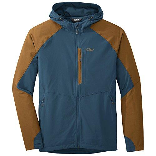 Outdoor Research, giacca con cappuccio, modello: Herren Ferrosi , 250094, peacock/saddle, M
