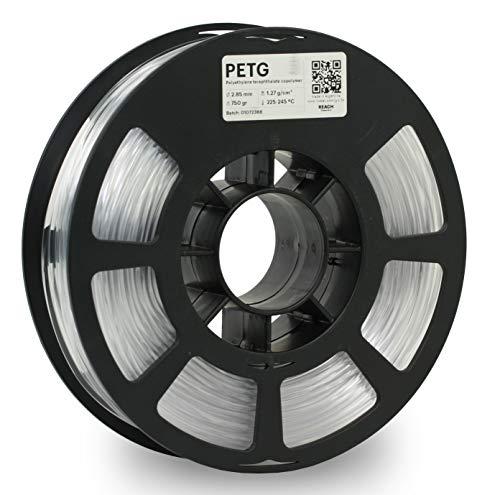 KODAK PETG Filament 2.85mm for 3D Printer, Natural PETG, Dimensional Accuracy +/- 0.02mm, 750g Spool (1.7lbs), PETG Filament 2.85 Used as 3D Filament Consumables to Refill Most FDM Printers