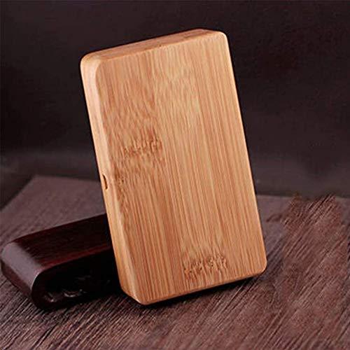 NoLogo La Caja de Cigarrillos Hecha a Mano de bambú y Caja de Tabaco de Madera de Regalo de Negocios Puede Contener 20 Cigarrillos exquisitos (Size : 11.5X6.6X2.2CM)