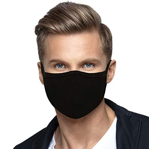 4 Pack Made in USA Adult Men's Protective Reusable Face Mask - Soft...