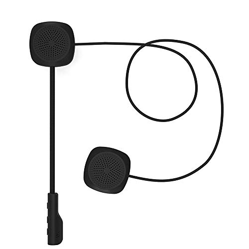 Asdomo Casco de motocicleta Auricular Bluetooth 5.0 EDR Auriculares Micrófono Casco de...