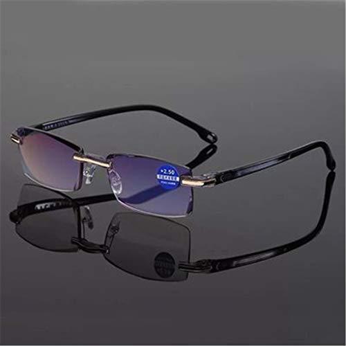 YANJ Lesebrille Männer - Blaulicht-Schutzbrille Männer,Anti blaulicht Brille,lesehilfen,für das Lesen von PC-Laptop-Spielern (Schwarz)