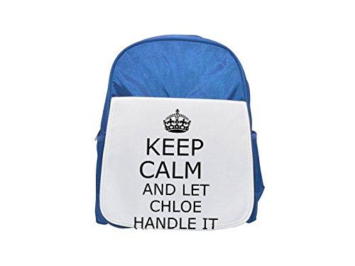 Handit Chloe Keep Calm - Mochila infantil con estampado de color azul, bonita mochila, bonita mochila negra, mochila negra, mochilas de moda, grandes mochilas de moda, mochila negra de moda