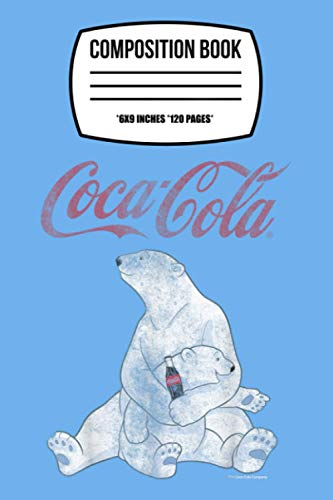 Coca-cola Vintage Faded Pair Of Polar Bears Graphic UM Notebook: 120 Wide...