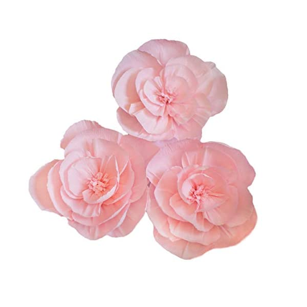 LG-Free Crepe Paper Flowers Paper Flower Decoration Handcrafted Flowers Party Wedding Backdrop Flower for Nursery Baby Showers Birthday Photo Backdrop Bridal Shower Centerpiece
