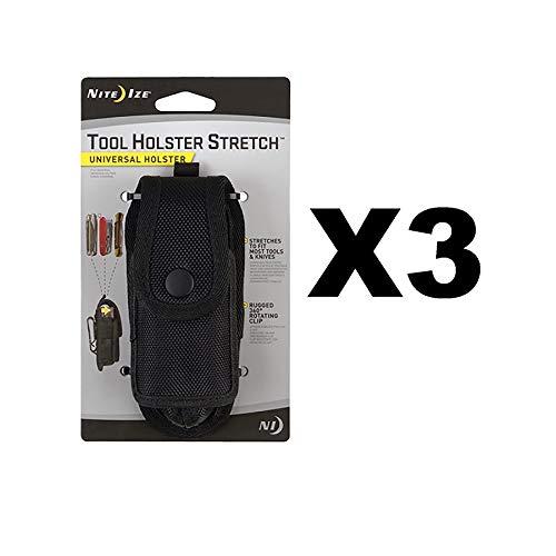 Nite Ize Tool Holster Stretch Universal Multitool/Taschenlampe Halter (3er Pack)