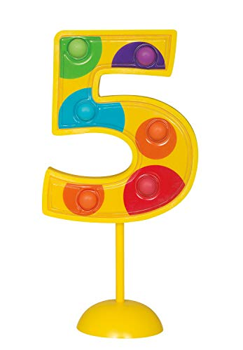 Unique party decoration, Number 5, Multicolor