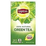 Lipton Tea Bags 100% Natural Green Tea, 20 ct