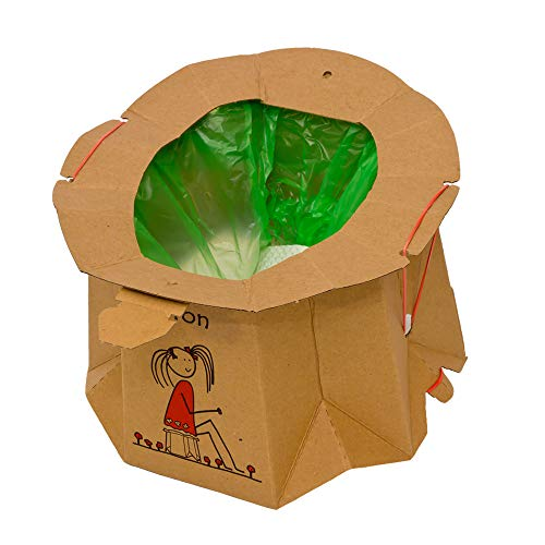 Hippychick Tron Disposable Travel Potty - Recycled - 12pc Pack