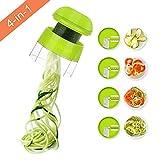 Sedhoom Coupe légume Spiralizer Spaghetti légume 4en1 Spirale de Légumes Trancheuse