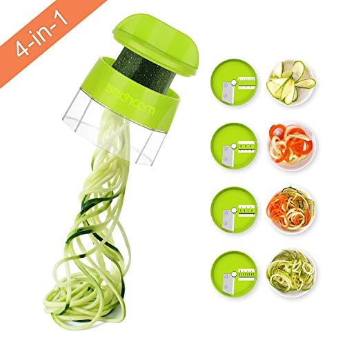 Sedhoom - Gemüseschneider Spiralizer Gemüsespaghetti 4-in-1 Gemüsespirale