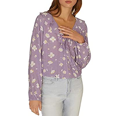 Sanctuary Jules Ruffle Wrap Blouse Hello Spring LG (US 10-12)