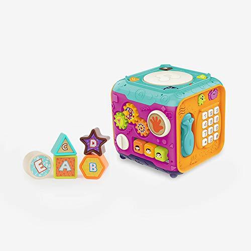 Juguetes educativos con hexaedros para la educación de la primera infancia, juguetes de cubos interactivos para niños y niñas, juguetes musicales de tambor de mano para niños, juguetes para bebés de 0