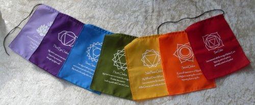 Siesta Chakra-Meditation Wimpelkette, Baumwolle, von Hand gefertigt in Bali