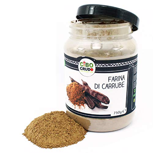 CiboCrudo Farina di Carrube Bio Cruda, Raw Organic - 750gr - Farina di Polpa Carrube Biologica in...