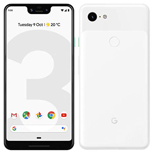Google Pixel 3 XL (2018) G013C 64GB - 6.3in inch - Android 9 Pie - (GSM Only, No CDMA) Factory Unlocked 4G/LTE Smartphone - International Version (Clearly White) (Renewed)