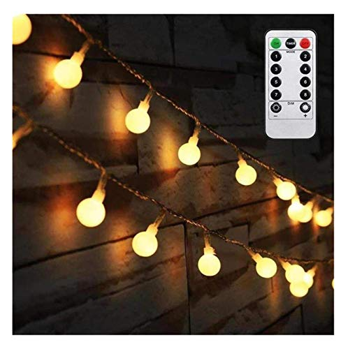 AMARS Bedroom Decor Hanging String Lights Battery Powered 16.4ft Globel Fairy...