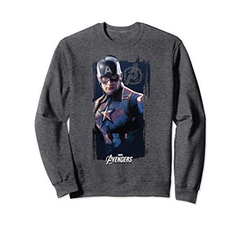 Marvel Avengers Endgame Captain America Logo Poster Sweatshirt