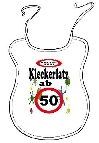 """Kleckerlatz Scherz-Latz für Erwachsene ab 50"""" Baby-Laetzchen"""