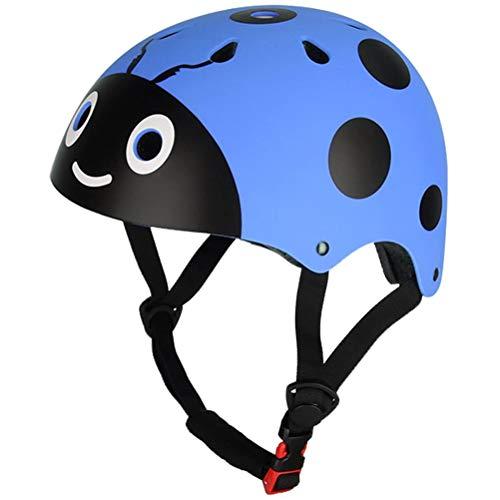 HEITIGN Bambini Che Guidano Casco Protettivo, Coccinella Carina Pattinaggio Bici Ciclismo Casco Sicurezza Equipaggiamento Protettivo Casco Regolabile Equilibrio Casco Bicicletta, Resistenza agli Urti
