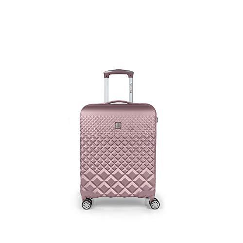Gabol - Oporto | Maleta de Cabina Rigidas de 40 x 55 x 20 cm con Capacidad para 36 L de Color Rosa