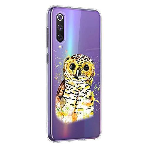 Oihxse Compatible con Xiaomi Redmi Note 5A Funda Suave Gel TPU Silicona Cristal Transparente Carcasa Acuarela Animal Pintado Patrón Protectora Estuche Bumper Caso Case (B5)