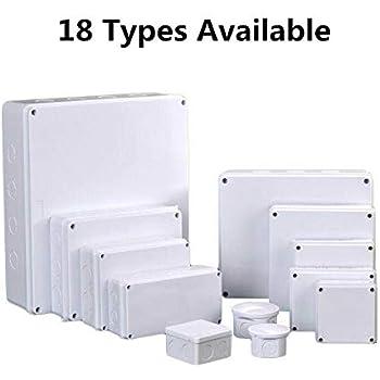 Sourcingmap 6/pcs 50/x 28/x 15/mm /électronique Plastique DIY Bo/îte de jonction bo/îtier Blanc