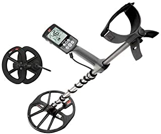 Minelab Equinox 600 All Terrain Waterproof Metal Detector with 11in Double-D Smart Search Coil, 5, 10, 15kHz and Multi Frequency - Bundle 6in EQX 06 Round Double-D Smart Search Coil