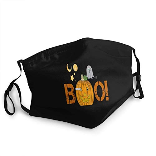 Unisex face Halloween Boo Reusable Cloth face Adjustable