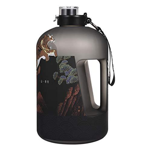 crazerop Botella de agua de 2,5 L/3,78 L, para exteriores, gran jarra de agua con marcador de tiempo, a prueba de fugas, para fitness, deportes, picnic, camping