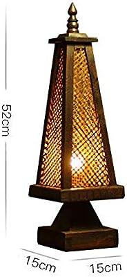 LLYU 東南アジアのタイ様式の装飾は、竹テーブルランプベッドルームベッドサイドランプアンティーククリエイティブナイトライト機能します