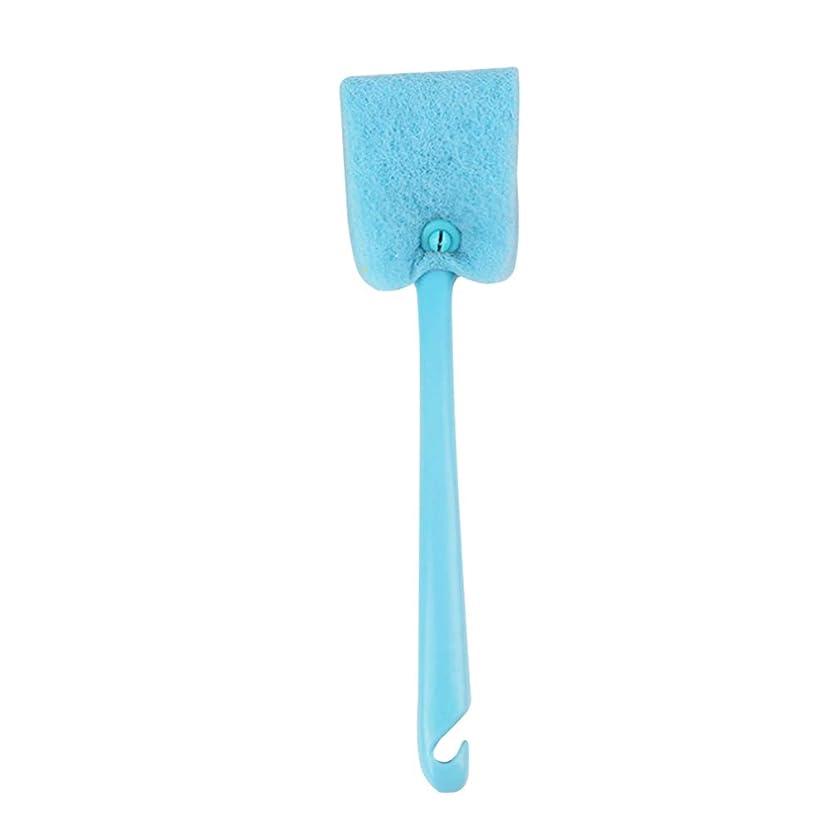はさみ宣伝ガスUPKOCH 長いハンドルスポンジブラシキッチン洗浄スクラバークリーニングブラシ精練パッドスポンジパッド(ランダムな色)