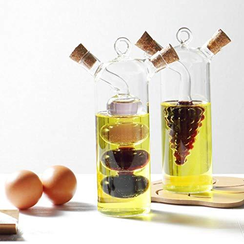 XMYNB Spray de aceite de vidrio de moda de salsa de soja olla de salsa de soja vinagre condimento botella de aceite botella de vinagre botella de vidrio frasco de cocina