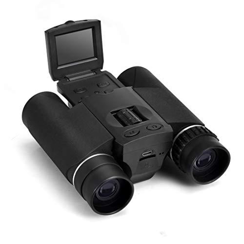 QYGGGBinoculars Telescopio binoculares DB618B 10X LCD a Mano Libres Correa for el Cuello binoculares cámara Digital con 25 mm de diámetro Objetivo
