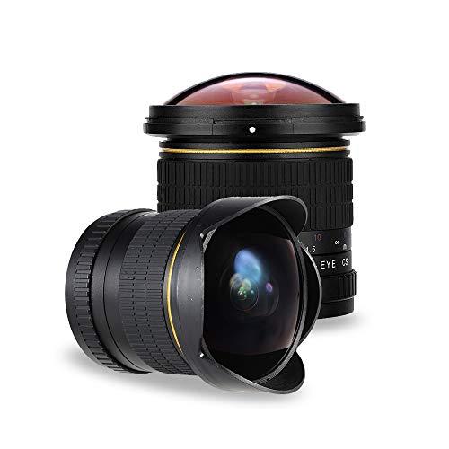 JINTU 8mm F3.0 Fisheye Grand Angle Caméra Objectif Macro Photographie pour NIKON D5500 D3300 D3200 D5300 D3200 D5300 D3400 D7200 D7500 D3500 D750 D7500 D7500 D750 D60 D810 D3100 D5200 D5600 D7000