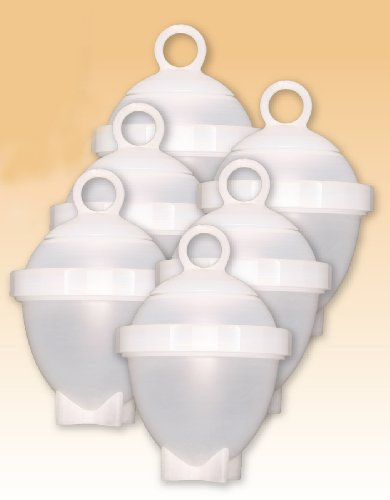 Lot de 6 cuit oeuf moule eggies cuisson au bain-marie ou au micro-ondes