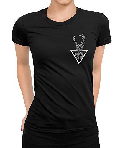 Hirsch REH Polo - Jäger Jagd Jagen Hunting Club Hunter Wild Revieraufsicht REH Hirsch Schwein Wildschwein Jagdkleidung Jägerbekleidung Army Frauen Damen T-Shirt