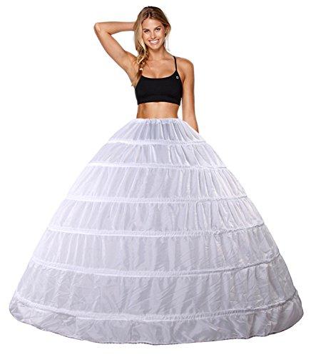 Abiti da sposa Sottogonna Sposa Sottogonna Crinolina 6 Cerchio Cerchi Sottogonna Sottoveste da Sposa Sottovesti e Sottogonna Sottoveste Wedding Petticoat Sottogonne da Donna Gonne da Donna