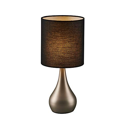 Versanora Sarah lámpara de mesa, acero cepillado