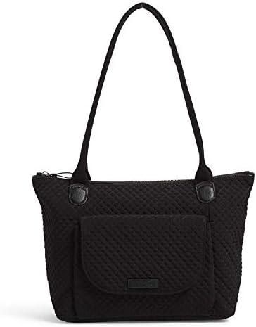 Vera Bradley Women s Microfiber Carson East West Tote Bag Classic Black product image