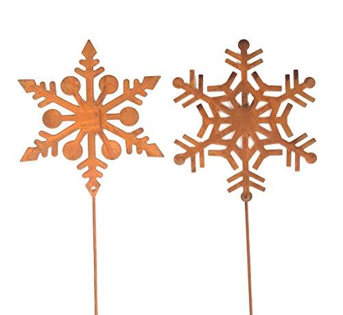 HPS Gartenstecker Schneeflocke am Stab